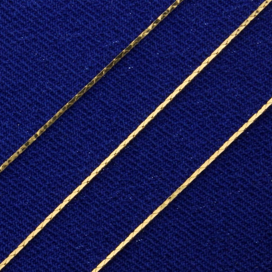 18 Inch Flat Link Neck Chain in 14K Yellow Gold - 2