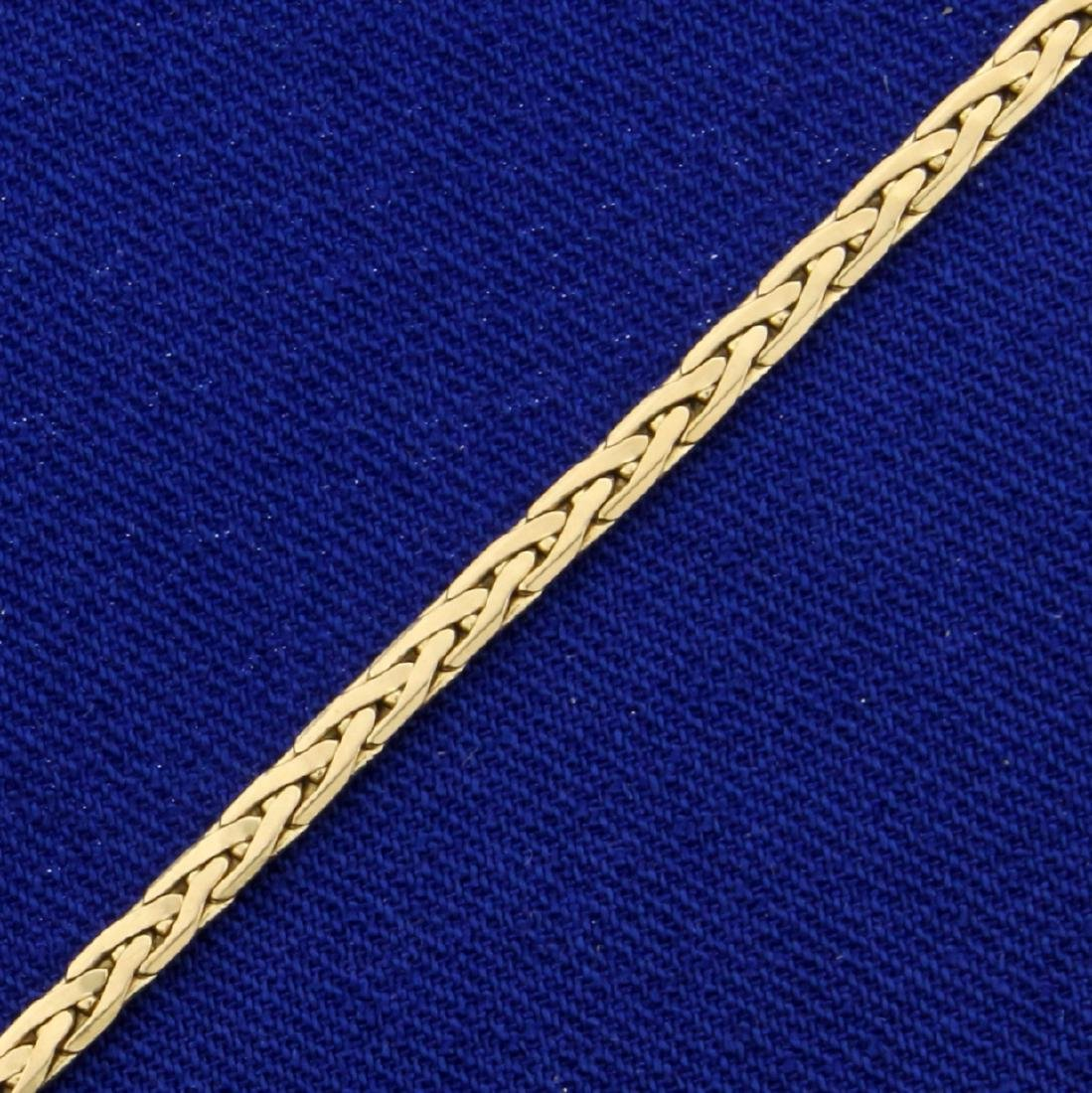 Woven Link Bracelet in 14K Yellow Gold - 2