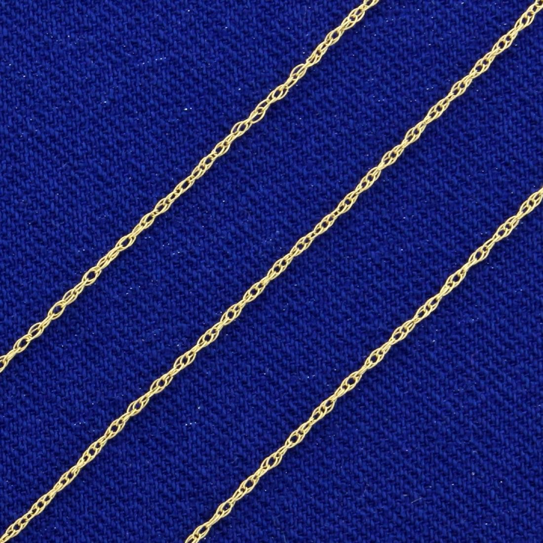18 1/2 Inch Rope Style Neck Chain in 10K Yellow Gold - 2