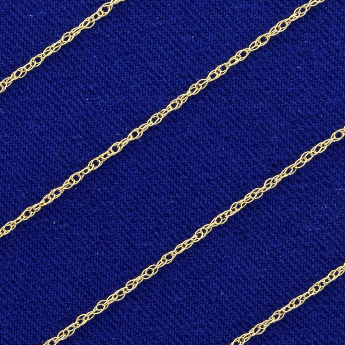 24 1/2 Inch Rope Style Neck Chain in 14K Yellow Gold - 2