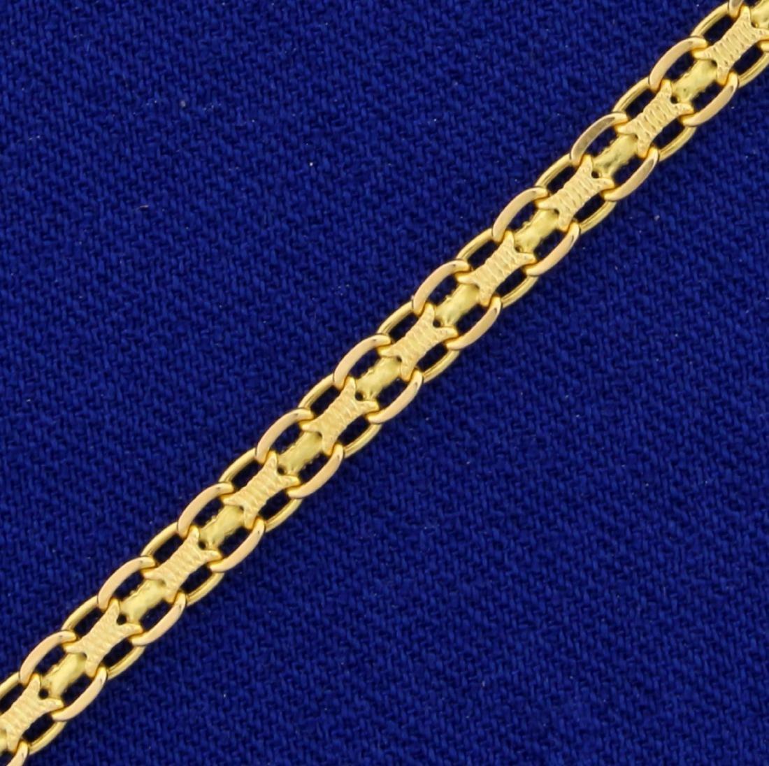 7 1/2 Inch Bismarck Link Bracelet in 14K Yellow Gold - 2