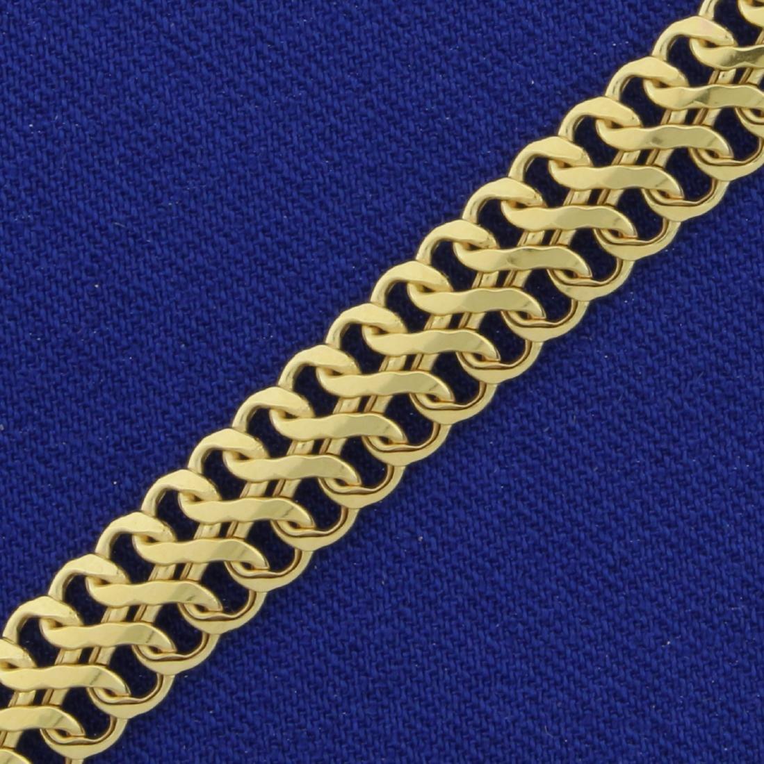 7 Inch Double Flat Infinity Link Bracelet in 10K Yellow - 2