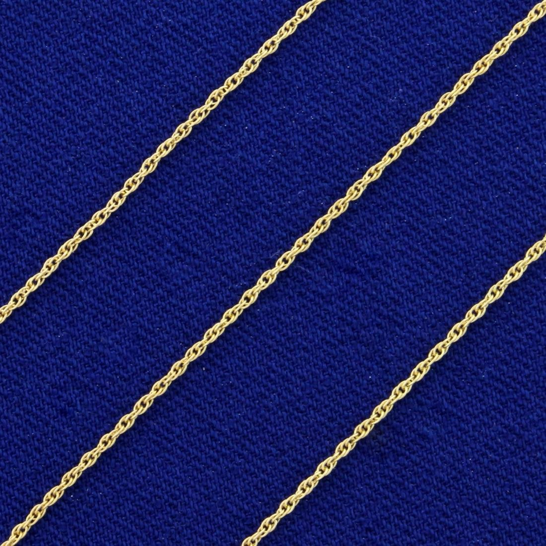 18 Inch Rope Style Neck Chain in 14K Yellow Gold - 2