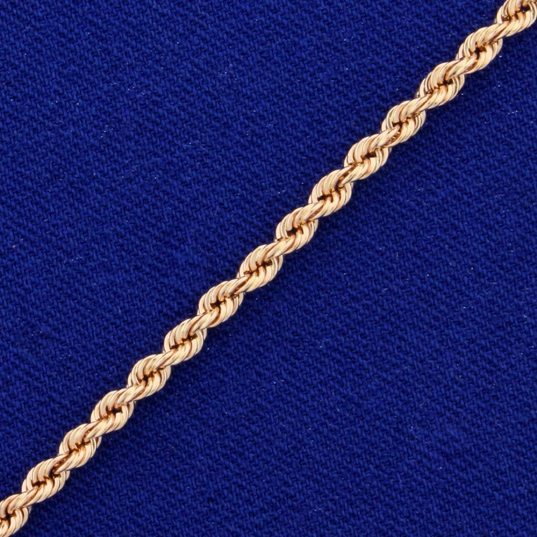 8 Inch Rope Style Bracelet in 14K Rose Gold - 2