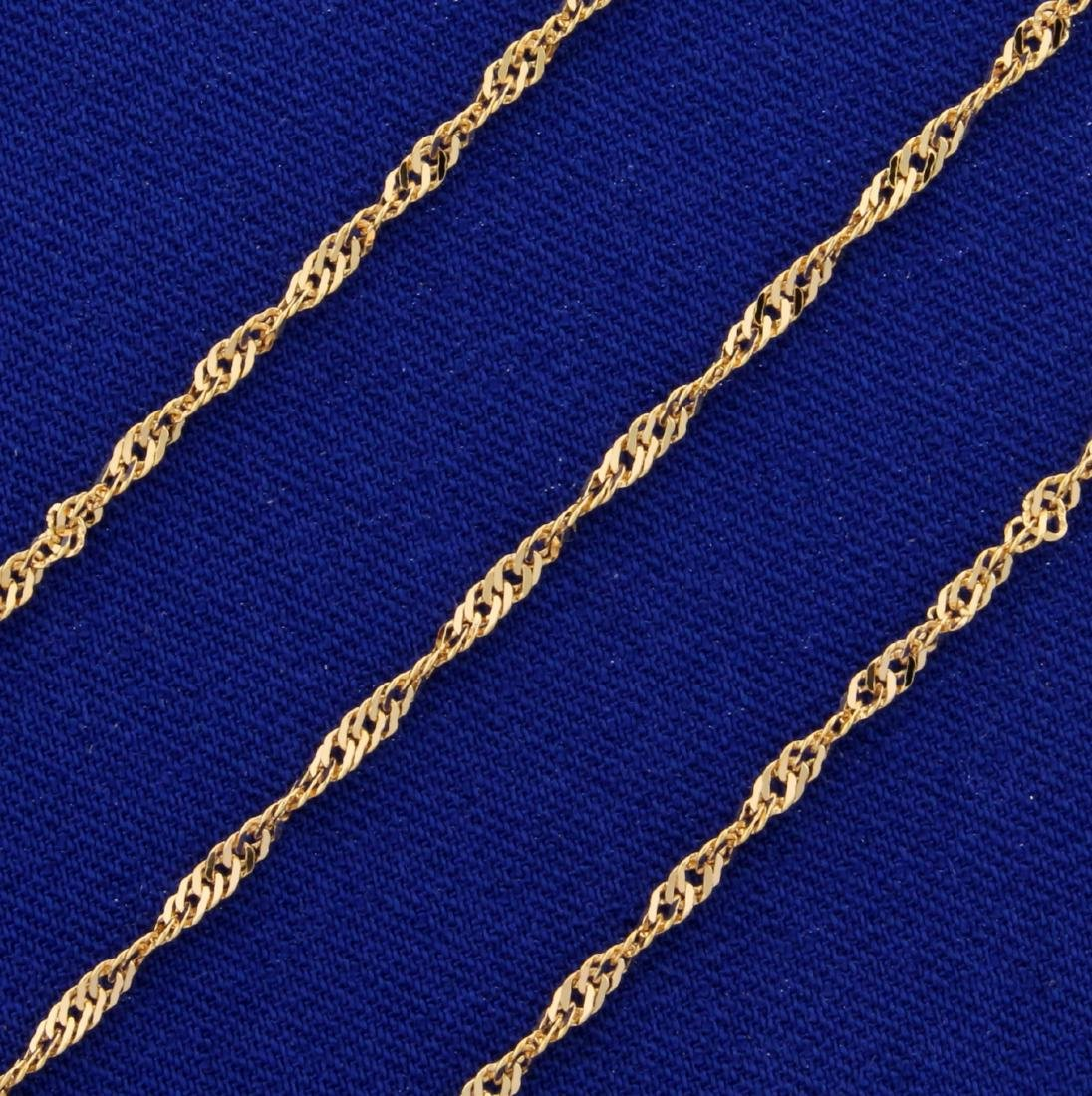 20 Inch Italian Made Rope Style Neck Chain in 14K Rose - 2