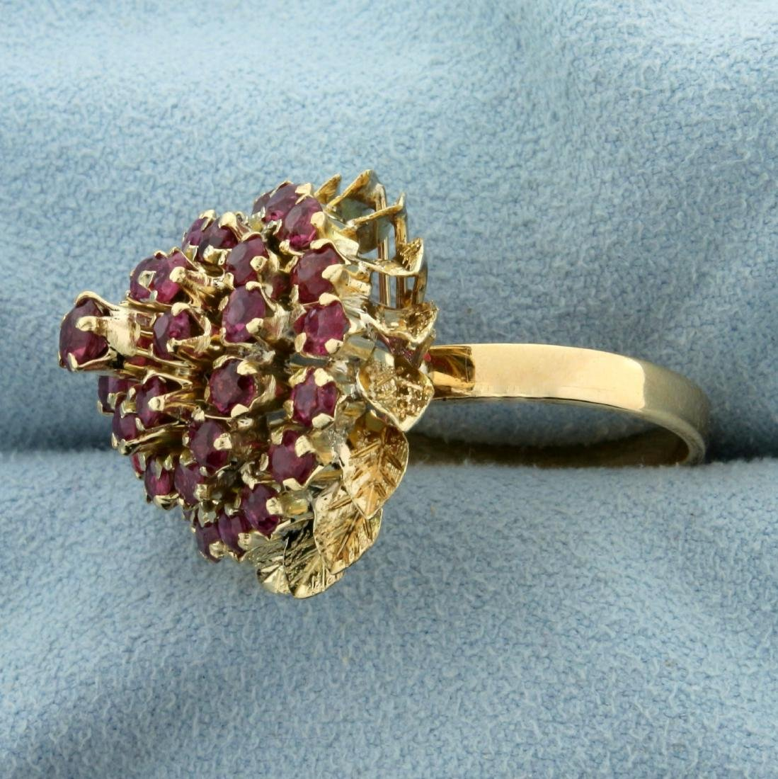 2ct TW Natural Ruby Ring in 18K Yellow Gold - 2