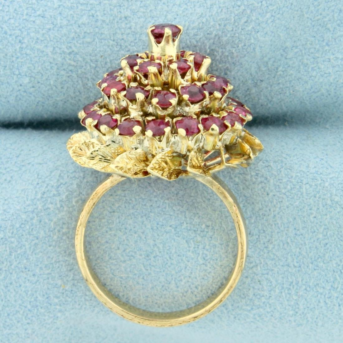 2ct TW Natural Ruby Ring in 18K Yellow Gold - 3