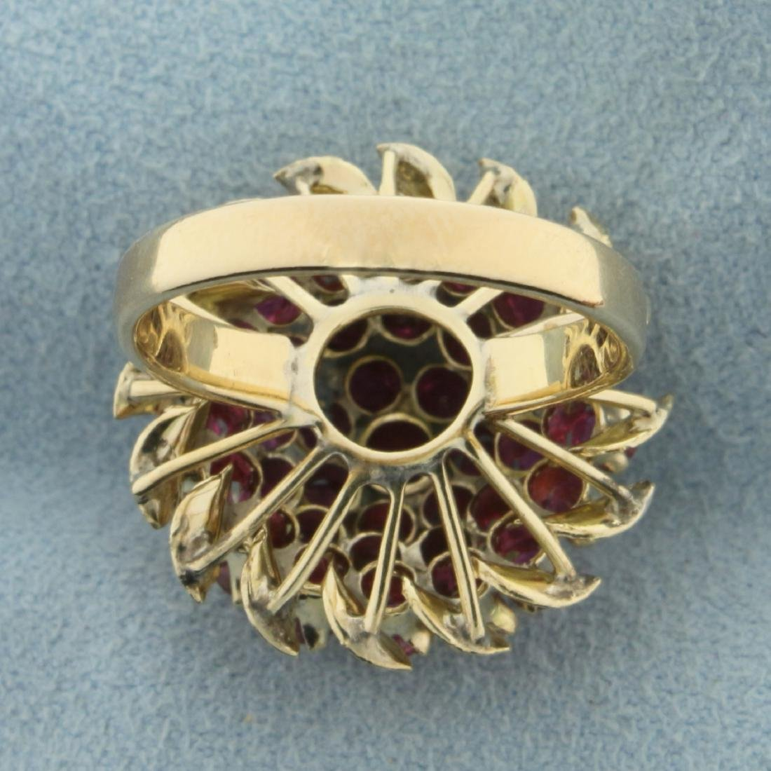 2ct TW Natural Ruby Ring in 18K Yellow Gold - 4