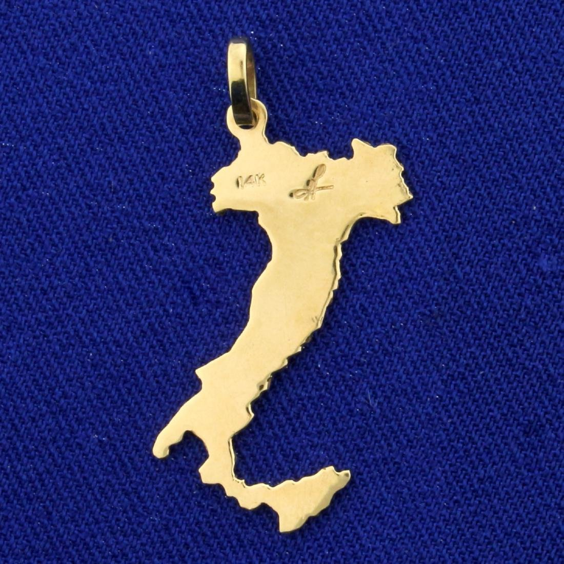 Provinces of Italy Pendant or Charm in 14K Yellow Gold - 2