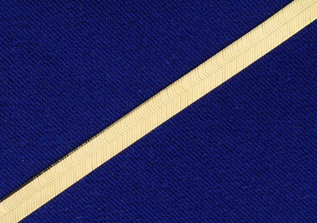 20 Inch Italian Made Herringbone Necklace in 14K Yellow - 2