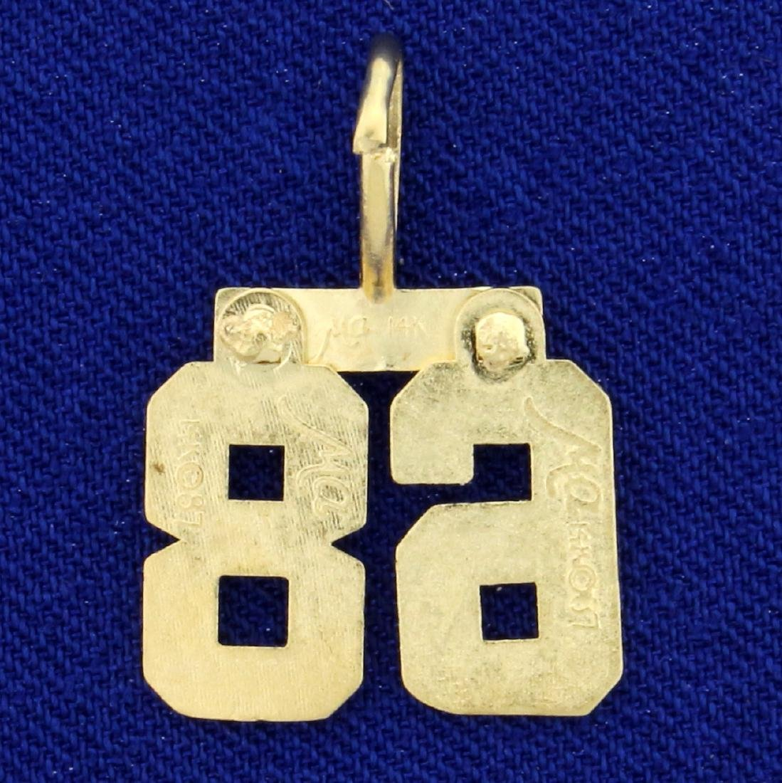 """Number """"68"""" Pendant in 14K Yellow Gold - 2"""