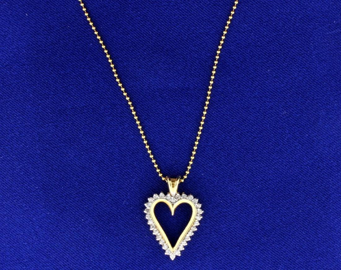 1/2 ct TW Diamond Heart Pendant - 2