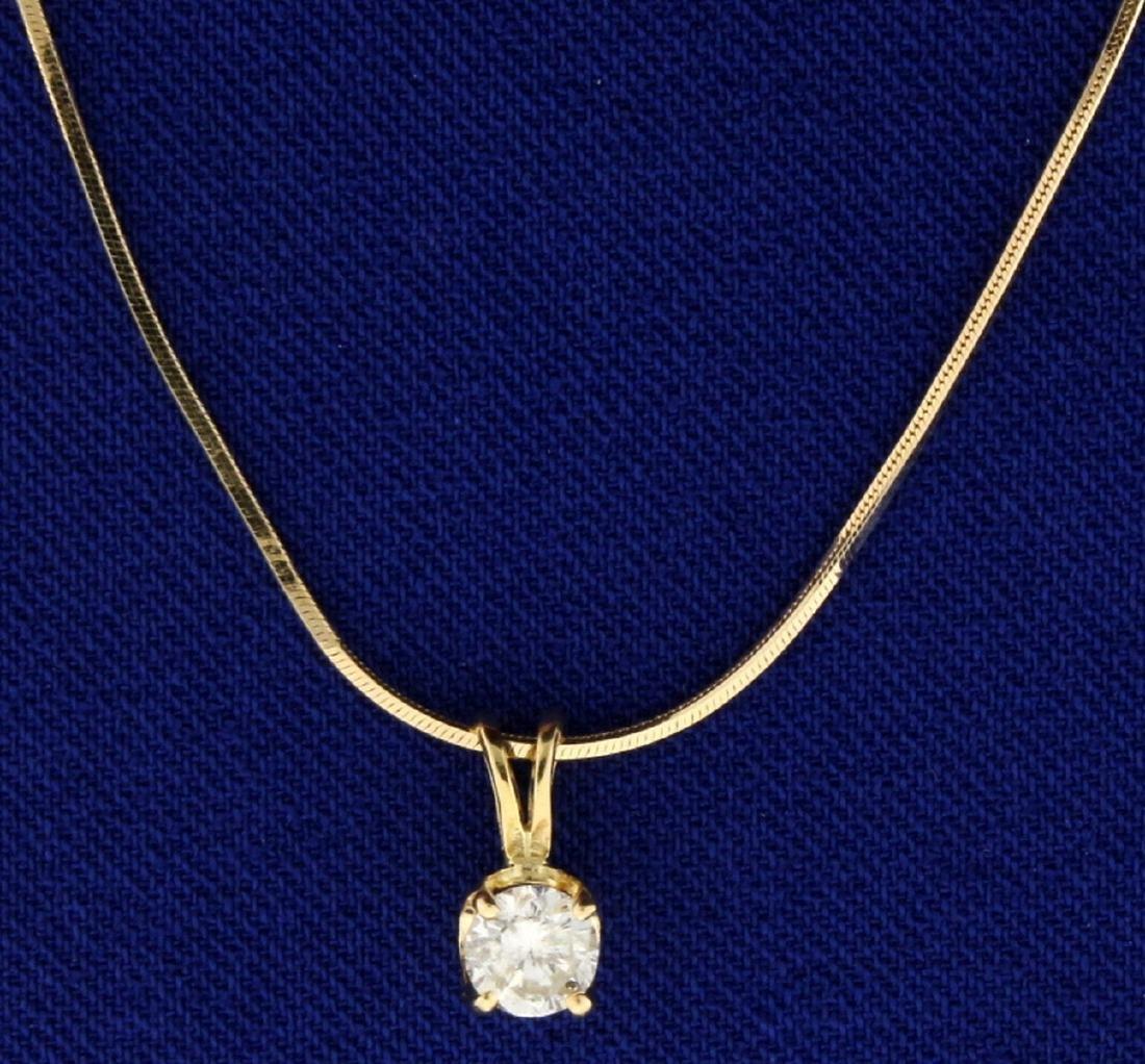 1/3ct Diamond Pendant on 14k Gold Chain
