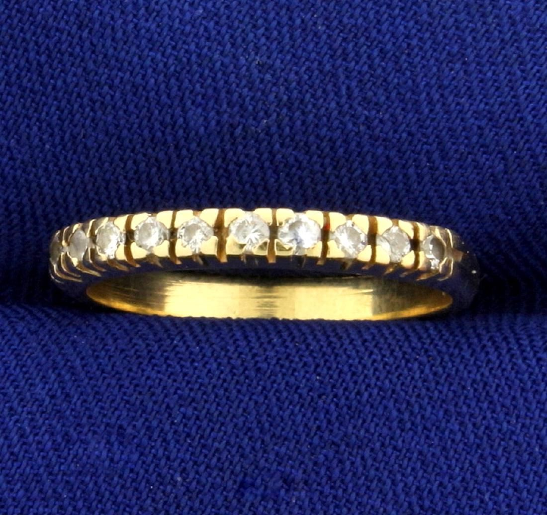 Diamond Wedding or Anniversary Band Ring in 14k Yellow