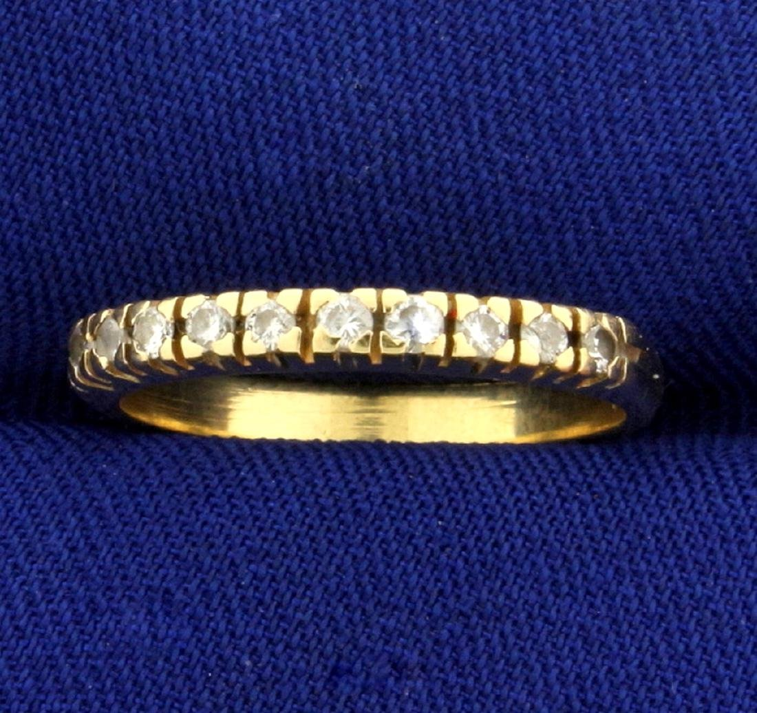 Diamond Wedding or Anniversary Band Ring in 14k Yellow