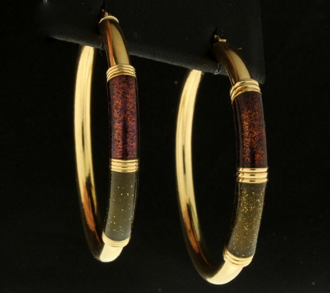 Large 14k Gold Hoop Earrings - 2