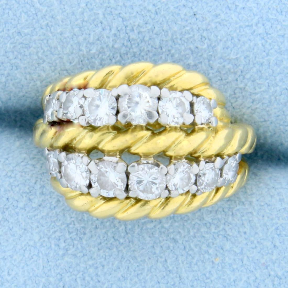 Vintage Van Cleef & Arpels 1ct TW Diamond Ring in 18k