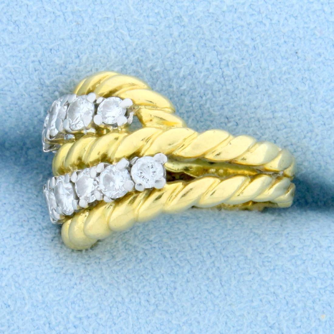 Vintage Van Cleef & Arpels 1ct TW Diamond Ring in 18k - 2