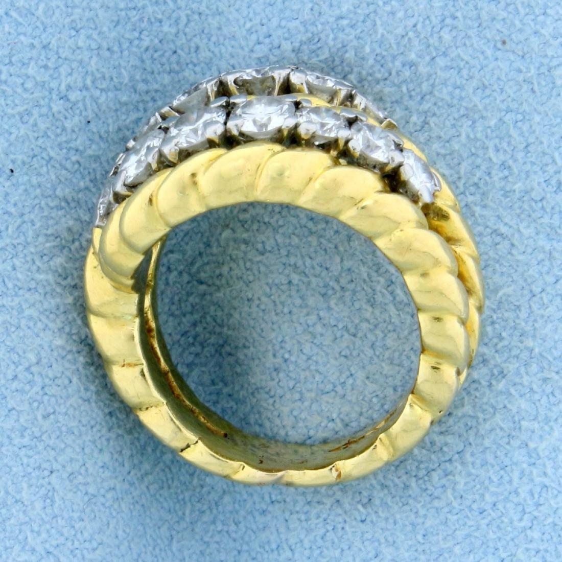 Vintage Van Cleef & Arpels 1ct TW Diamond Ring in 18k - 3