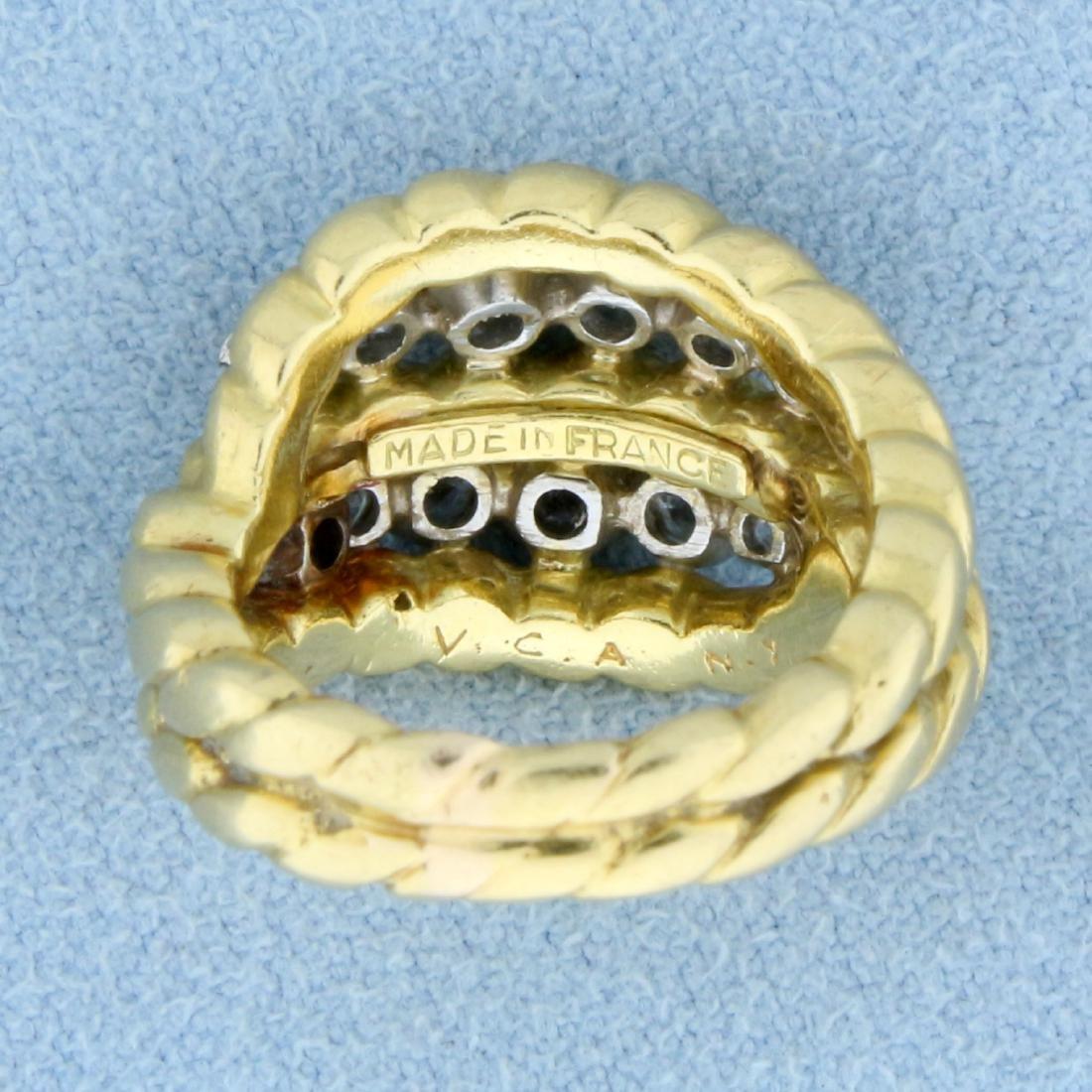 Vintage Van Cleef & Arpels 1ct TW Diamond Ring in 18k - 4