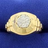 Men's 1/2ct TW President Style Diamond Ring in 14K