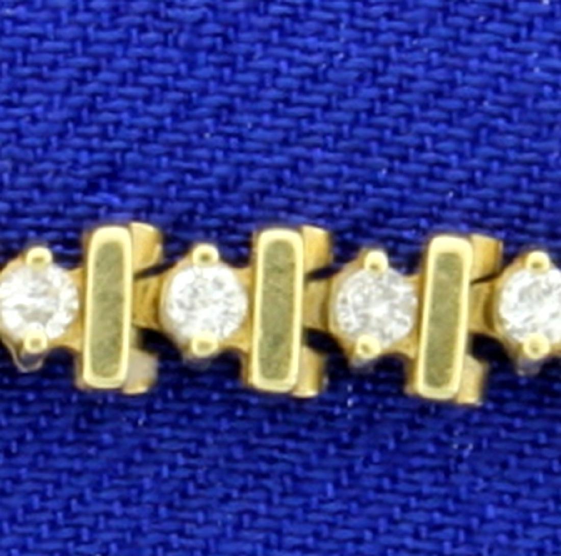 3/4ct TW Diamond Tennis Bracelet in 14k Yellow Gold - 2