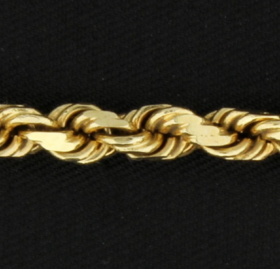 18 Inch Rope Neck Chain in 14k Yellow Gold - 2