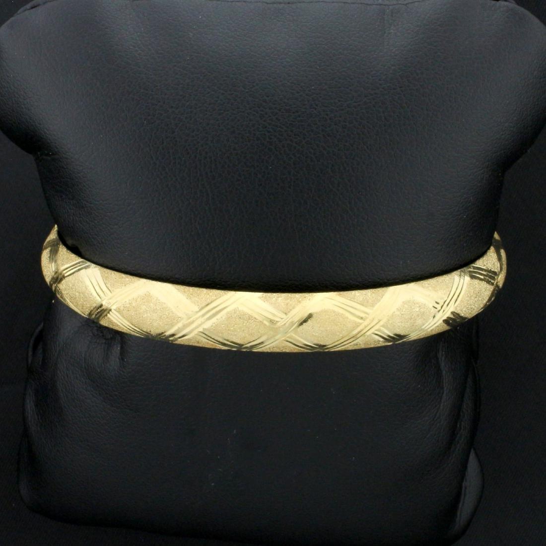 8mm Hinged Bangle Bracelet in 14K Yellow Gold