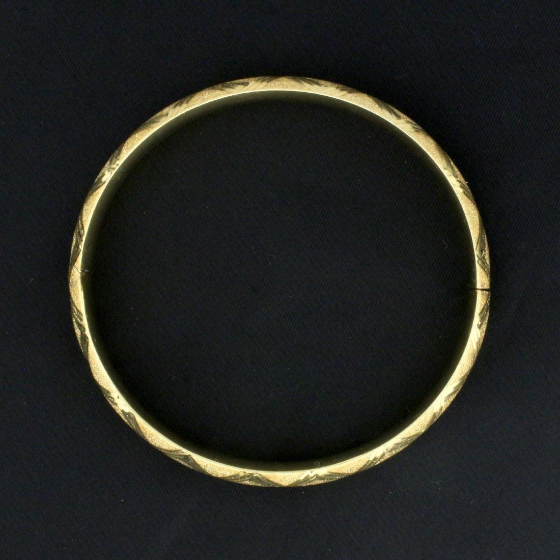 8mm Hinged Bangle Bracelet in 14K Yellow Gold - 2