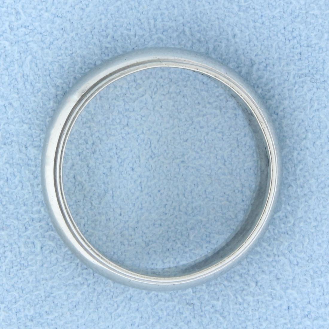 Beaded Edge Wedding Band Ring in 14K White Gold - 2