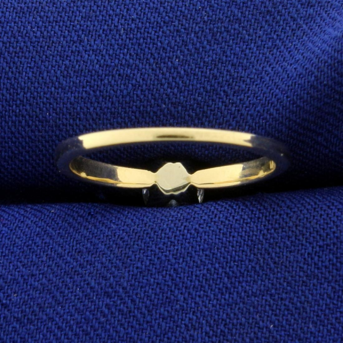 1/2ct Solitaire CZ Engagement Ring in 14K Yellow Gold - 4