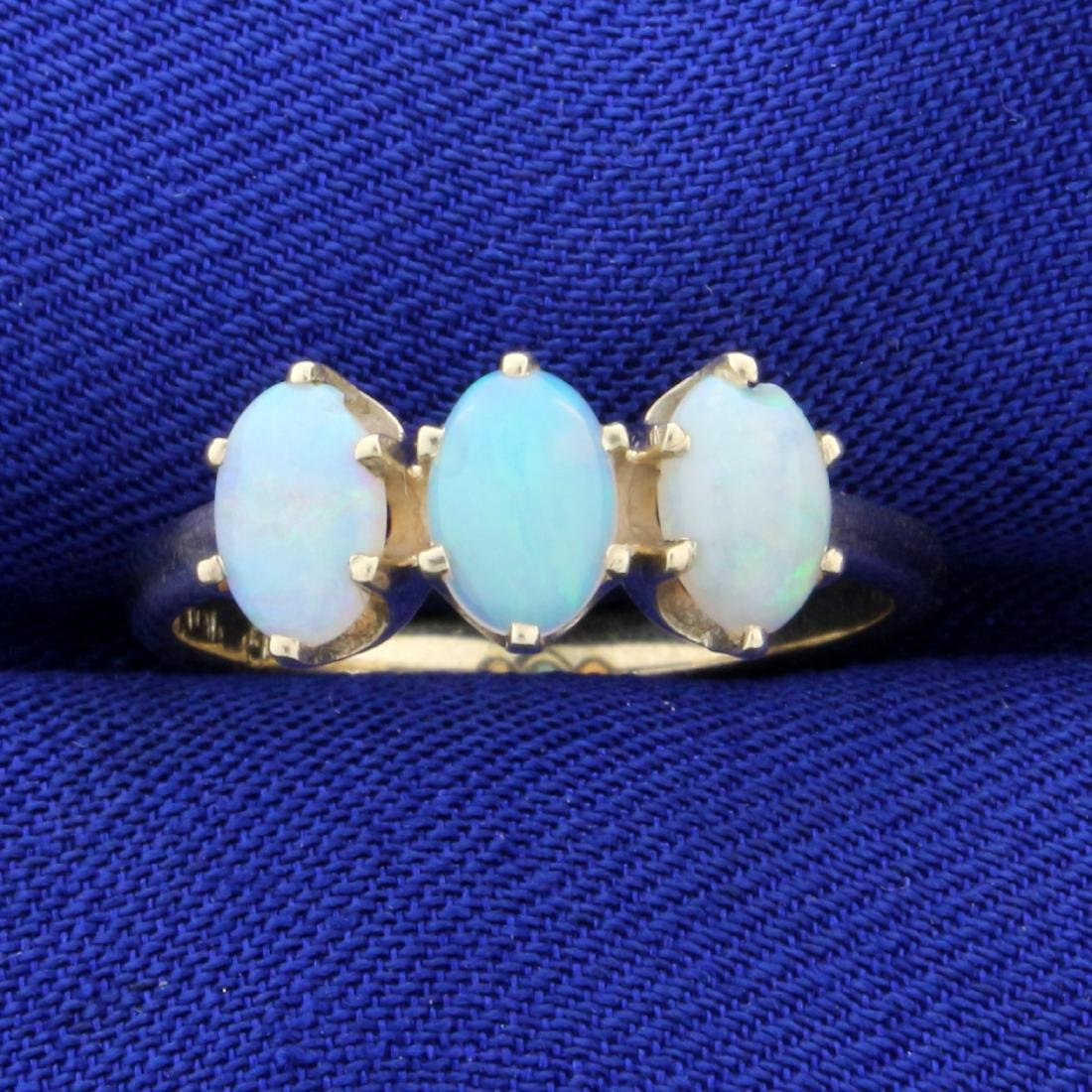 1.5ct TW Opal Ring in 10K Yellow Gold