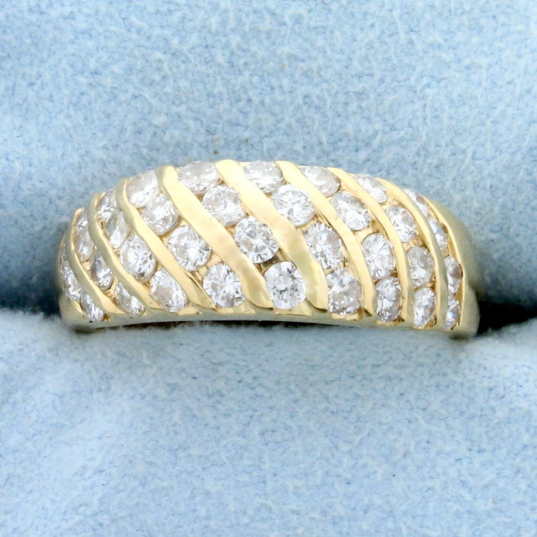 1.5ct TW Diamond Wedding or Anniversary Band Ring in