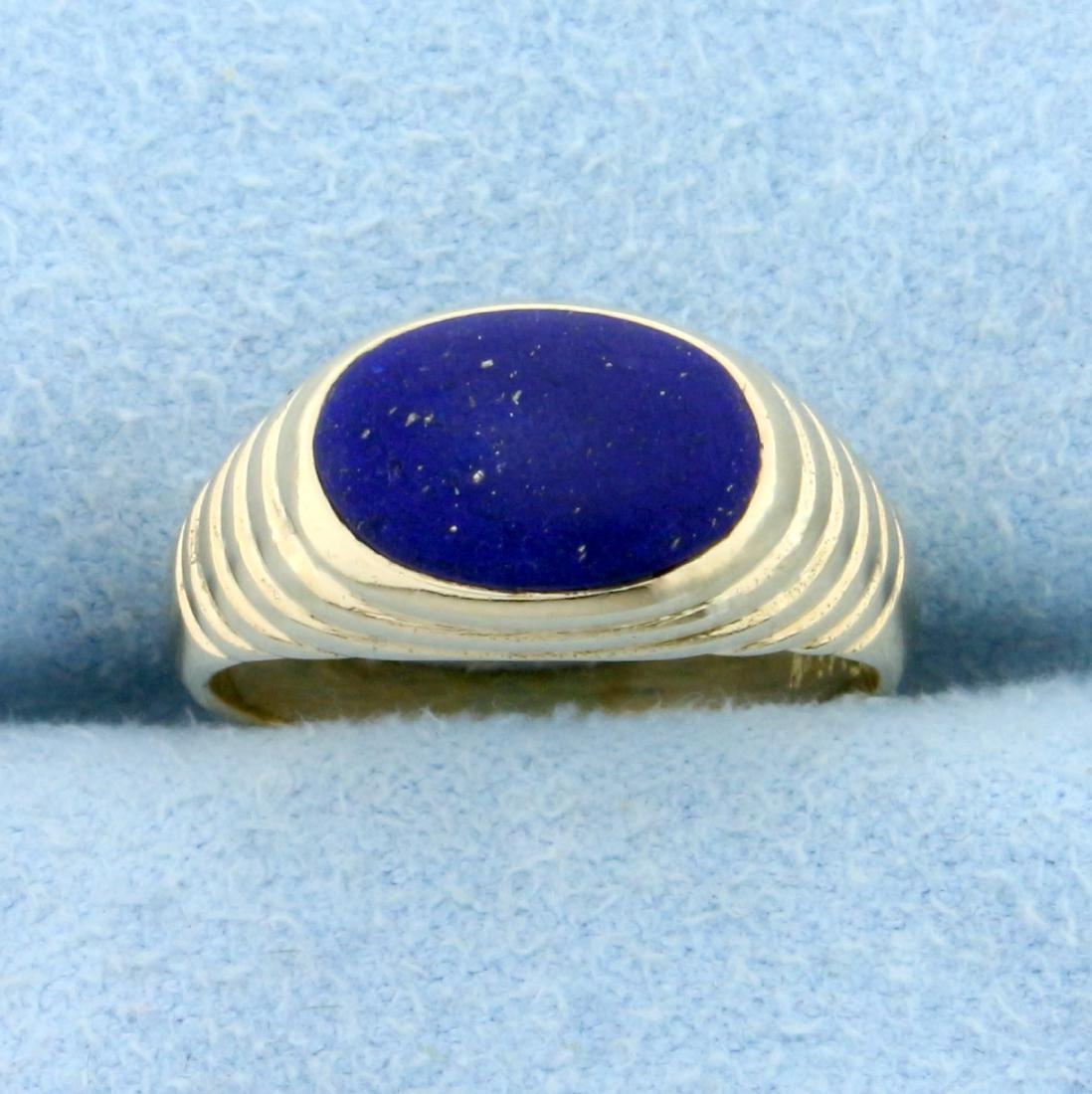 Lapis Lazuli Ring in 14K Yellow Gold