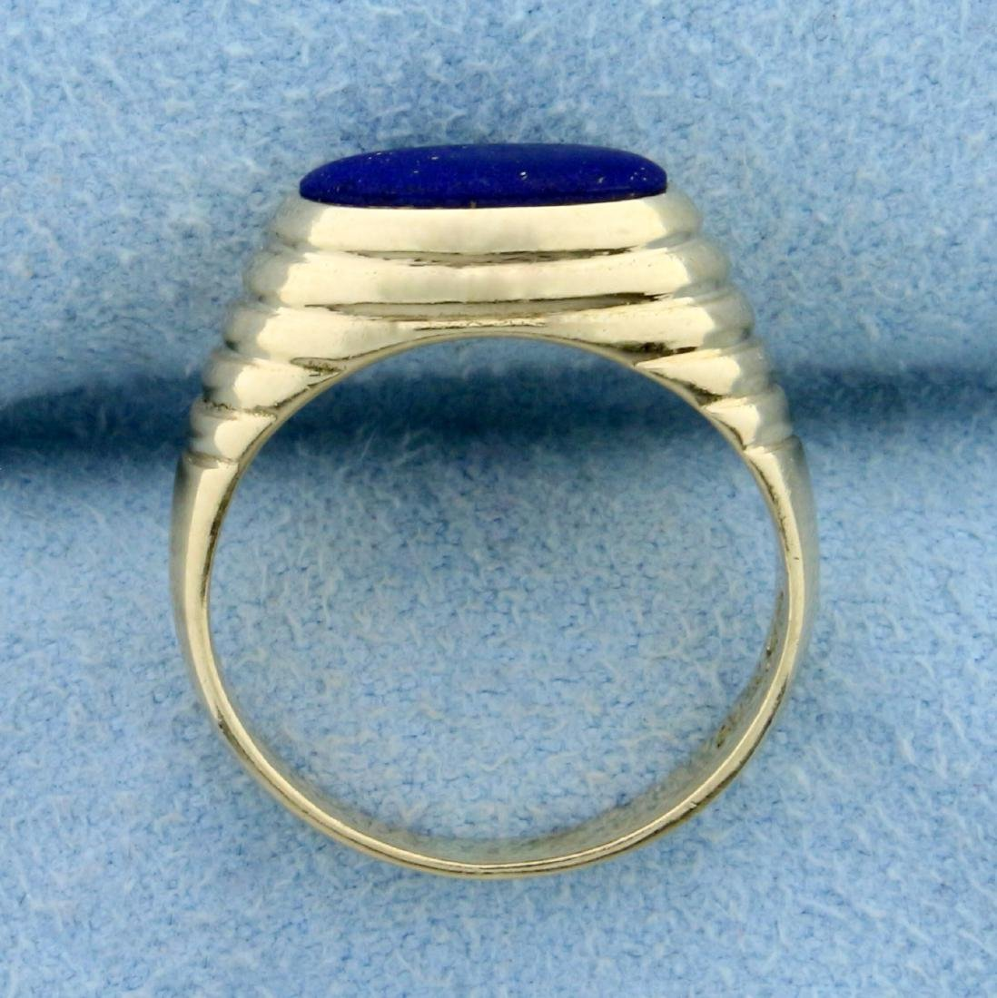 Lapis Lazuli Ring in 14K Yellow Gold - 3