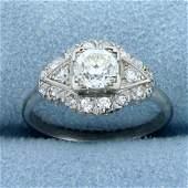 Antique 1ct TW Old European Cut Diamond Ring in