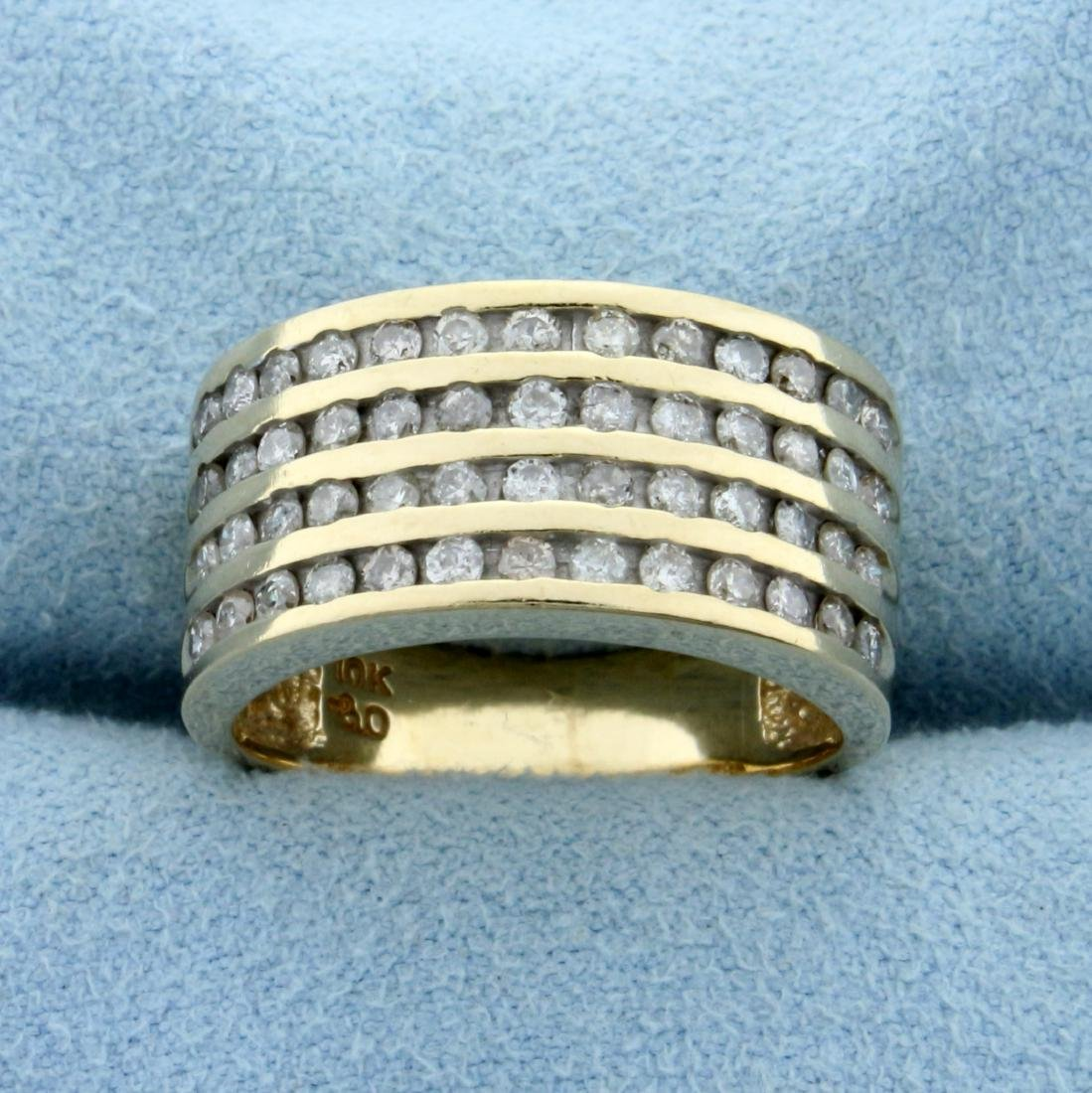 1/2ct TW Cannel Set Diamond Ring in 10K Yellow Gold