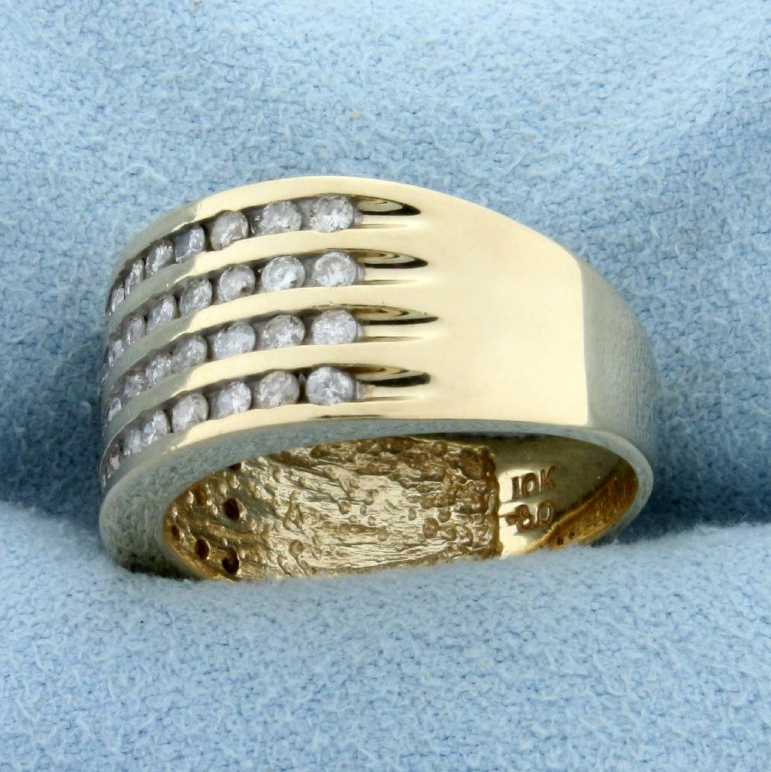 1/2ct TW Cannel Set Diamond Ring in 10K Yellow Gold - 2