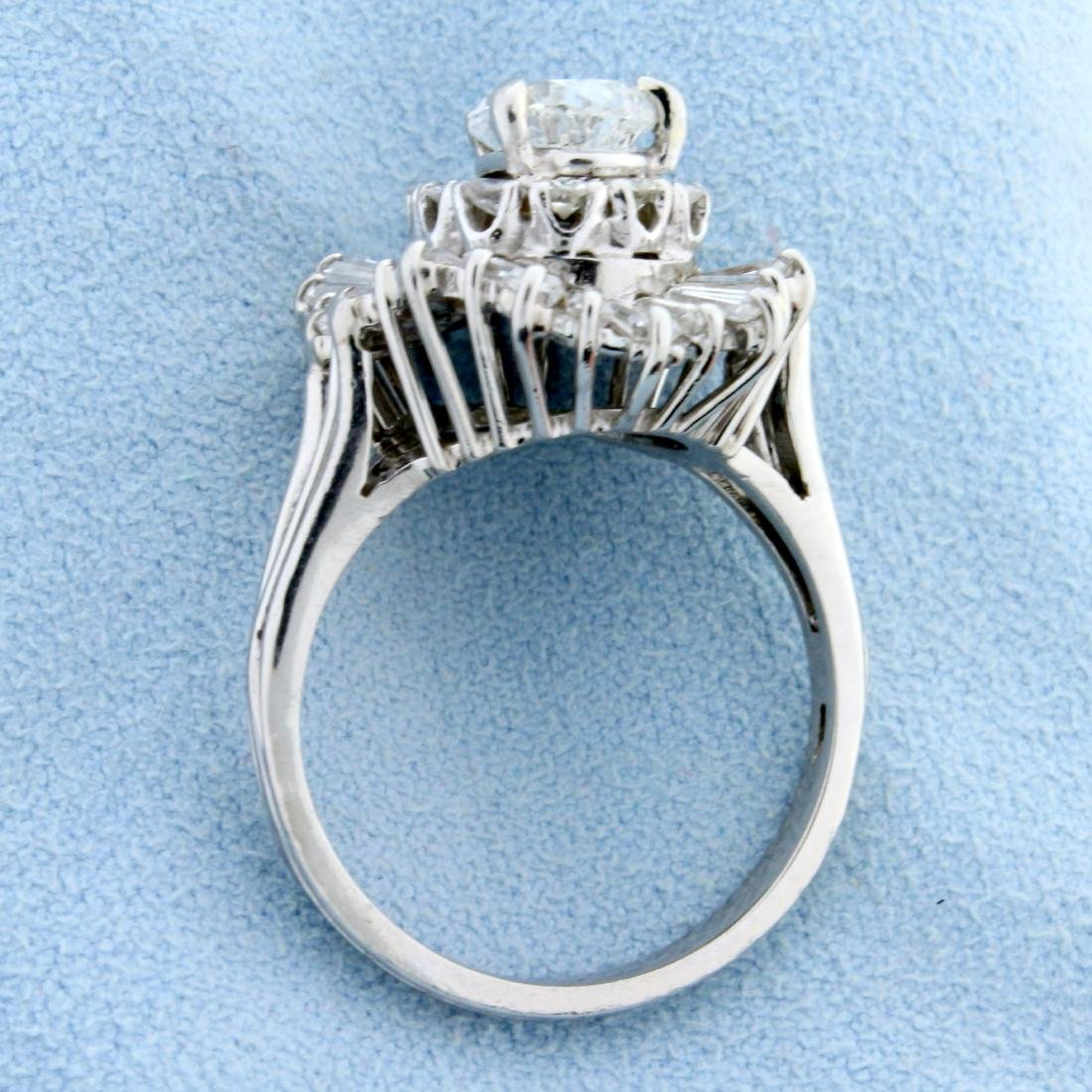 Vintage 3 1/2ct TW Pear Diamond Engagement Ring in - 3