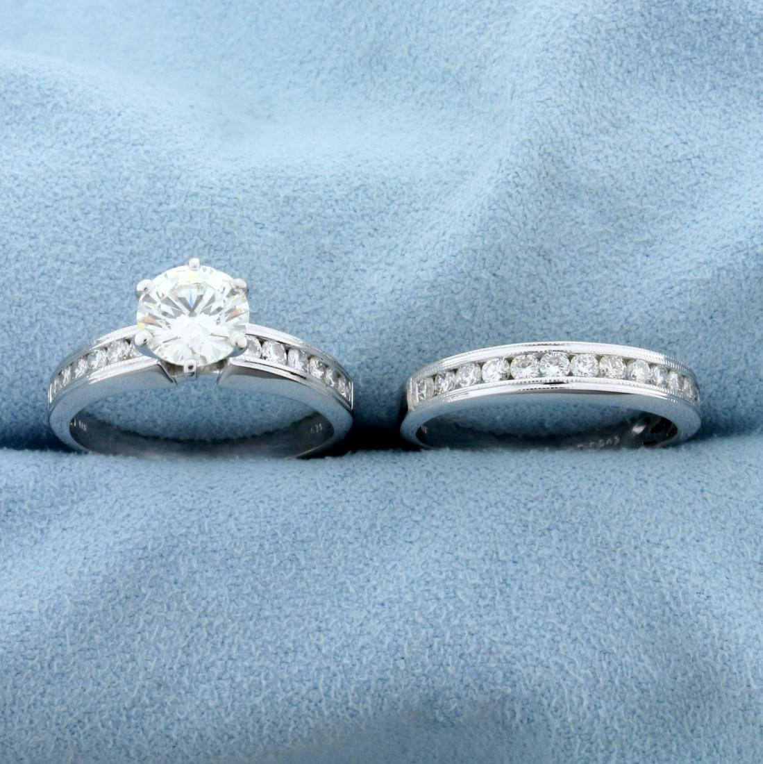 2ct TW Diamond Engagement Ring and Wedding Band Ring
