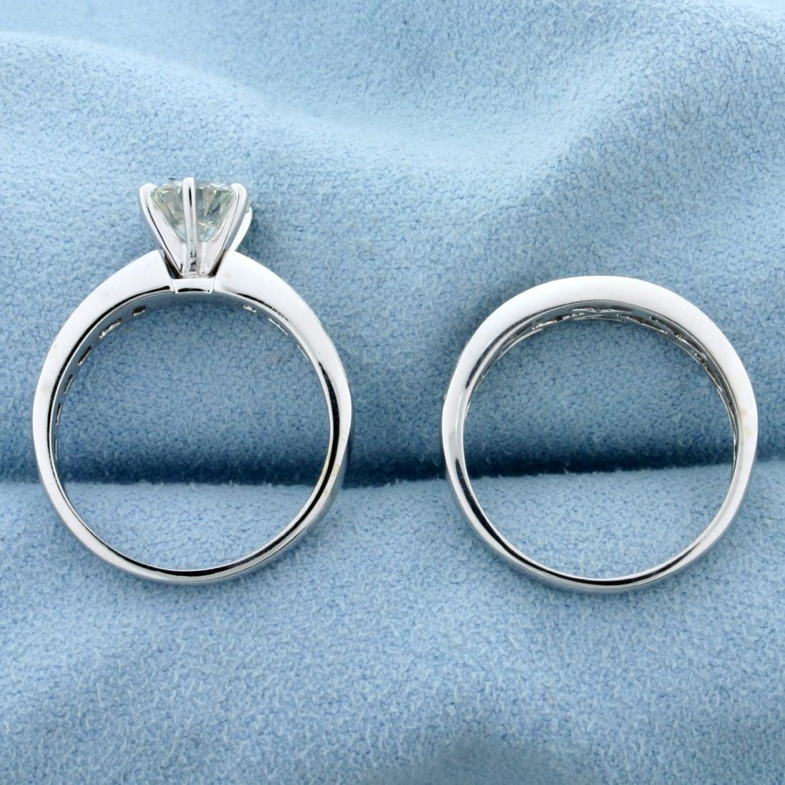 2ct TW Diamond Engagement Ring and Wedding Band Ring - 3
