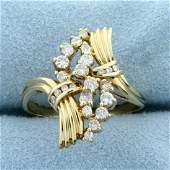 Unique 1/2ct TW Diamond Ring in 14K Yellow Gold