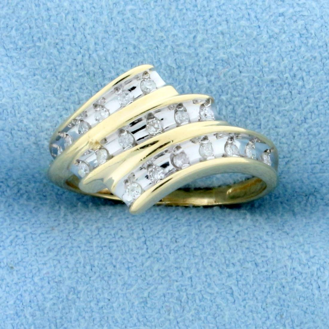 1/4ct TW Diamond Ring in 10K Yellow and White Gold