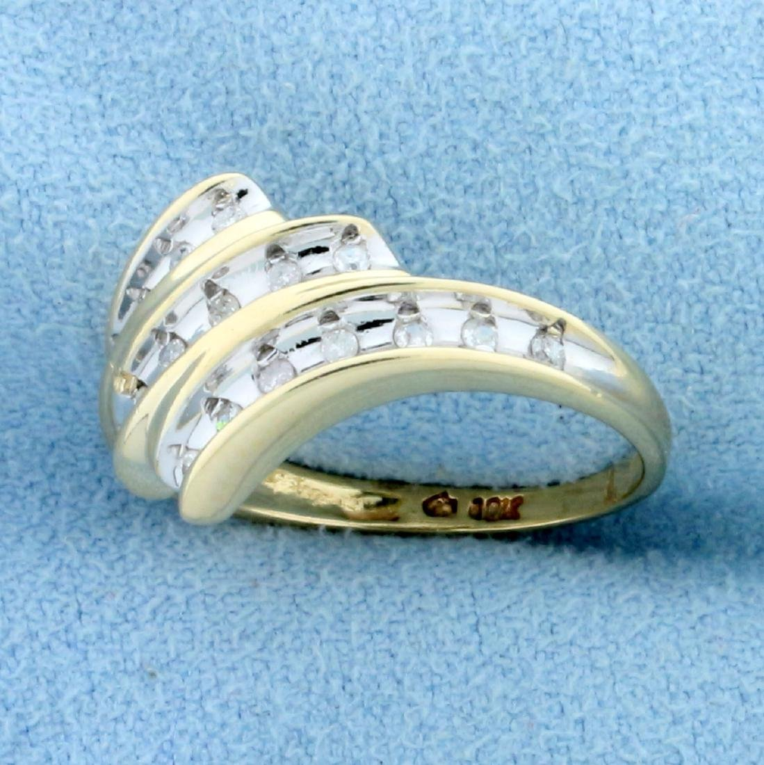 1/4ct TW Diamond Ring in 10K Yellow and White Gold - 2