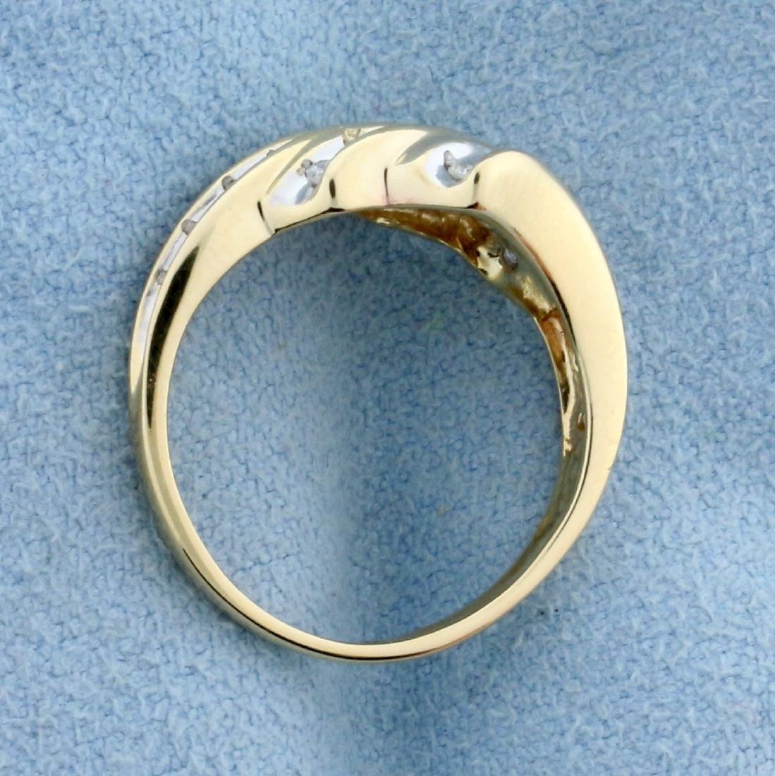 1/4ct TW Diamond Ring in 10K Yellow and White Gold - 3