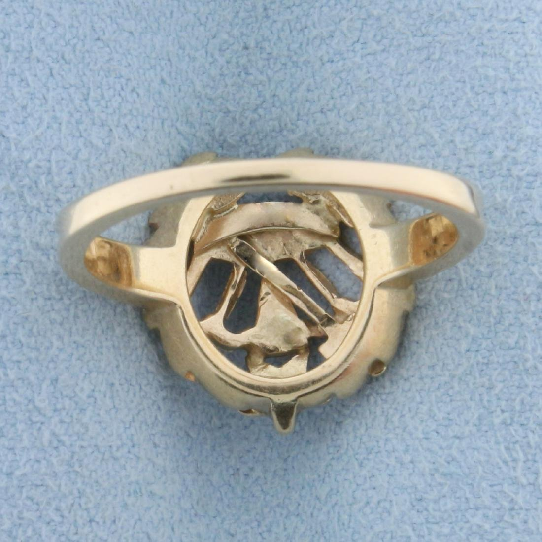 Order of The Eastern Star Ring in  14K Yellow and White - 4