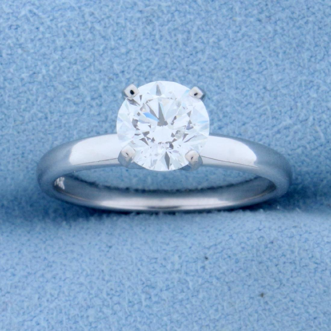 GIA Certified 1.2ct TW Diamond Solitaire Engagement