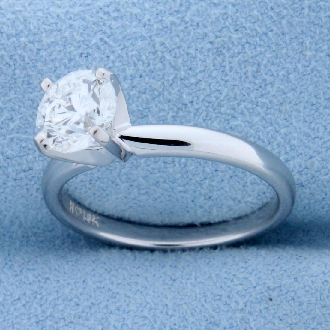 GIA Certified 1.2ct TW Diamond Solitaire Engagement - 2