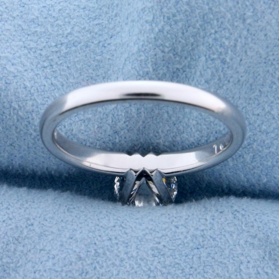 GIA Certified 1.2ct TW Diamond Solitaire Engagement - 4