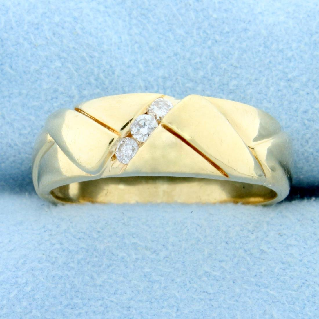 Men's Diamond Wedding or Anniversary Band Ring in 14K